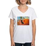 Room / Rottweiler Women's V-Neck T-Shirt