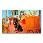 Room / Rottweiler Sticker (Rectangle)