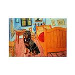 Room / Rottweiler Rectangle Magnet (10 pack)