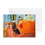 Room / Rottweiler Greeting Card