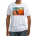 Room / Rottweiler Fitted T-Shirt