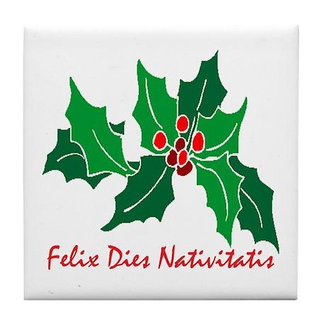Merry Christmas Latin Coasters | Cork, Puzzle & Tile Coasters ...