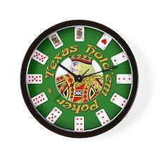 Texas Hold'em Wall Clock