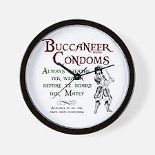 Buccaneer Brand Condoms Wall Clock