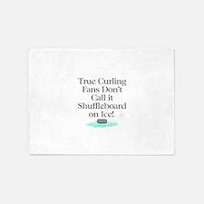 Curling Slogan 5'x7'Area Rug