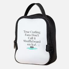 Curling Slogan Neoprene Lunch Bag