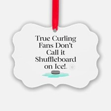 Curling Slogan Ornament