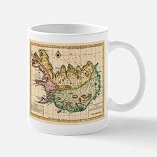 Vintage Map of Iceland (1756) Mugs