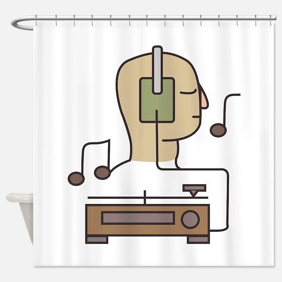 Sound System Shower Curtain