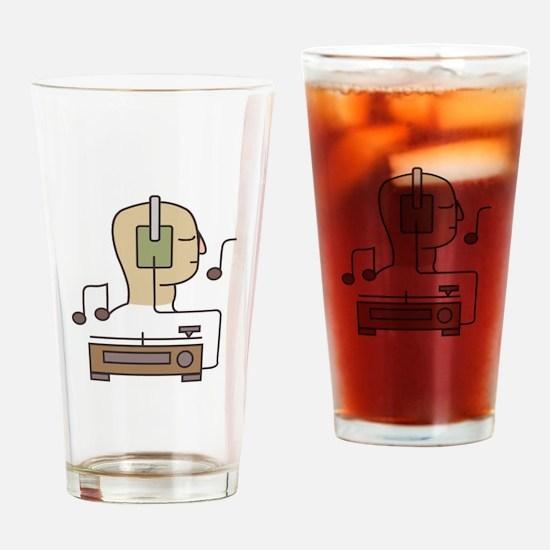 Sound System Drinking Glass