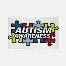 Cute Autism puzzle Rectangle Magnet (10 pack)