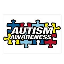 Cute Aspergers awareness Postcards (Package of 8)