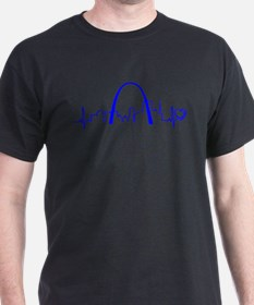 St. Louis Heartbeat (Heart) BLUE T-Shirt