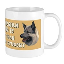 smart norwegian elkhound Mug