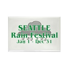 Seattle Rain Festival Rectangle Magnet