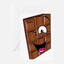 Chocolate emoticons Greeting Cards