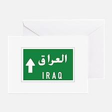 Iraq roadmarker, Iraq Greeting Cards (Pk of 10)