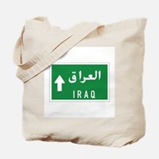 Iraq roadmarker, Iraq Tote Bag