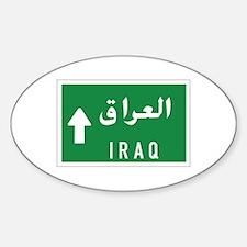 Iraq roadmarker, Iraq Oval Decal