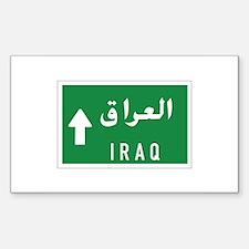 Iraq roadmarker, Iraq Rectangle Decal