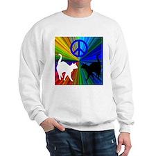 PEACE CATS Sweatshirt