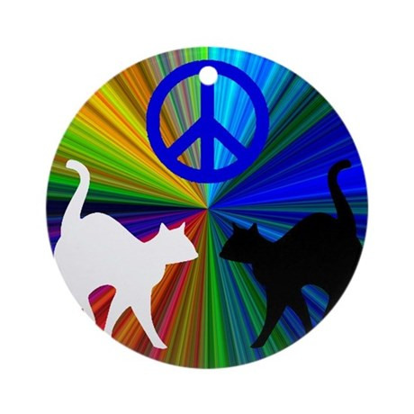 PEACE CATS Ornament (Round)