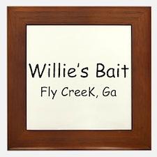 Willie's Bait Framed Tile