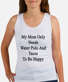 Cute Water polo sport Women's Tank Top