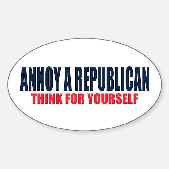 Annoy a Republican Decal