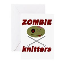 zombie knitter Greeting Cards (Pk of 20)