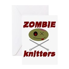 zombie knitter Greeting Card