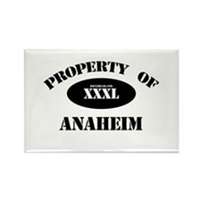 Property of Anaheim Rectangle Magnet