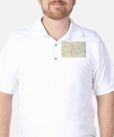 Vintage Map of The World Whaling Ground Golf Shirt