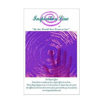 """""""The Ripple Effect"""" Glossy Poster (11&qu"""