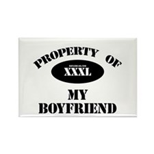 Property of My Boyfriend Rectangle Magnet