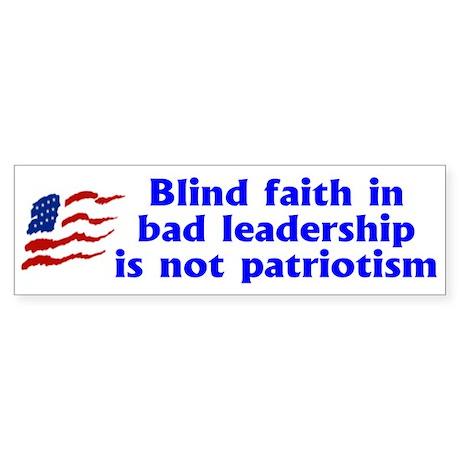 BLIND FAITH Bumper Sticker