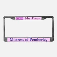 Jane Austen Mrs. Darcy License Plate Frame