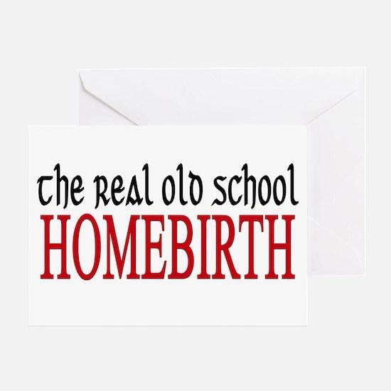 old school home birth Greeting Card