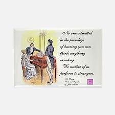 bennetgirls Jane Austen quote Rectangle Magnet
