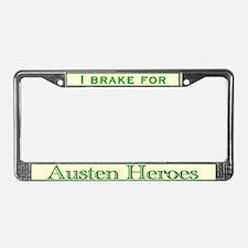 bennetgirls Austen Heroes License Plate Frame