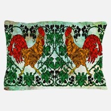Rooster and Blackberries Pillow Case