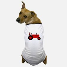 Personalized Red Tractor Dog T-Shirt