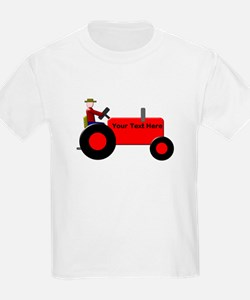 Personalized Red Tractor T-Shirt