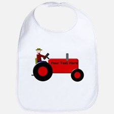Personalized Red Tractor Bib