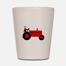Personalized Red Tractor Shot Glass