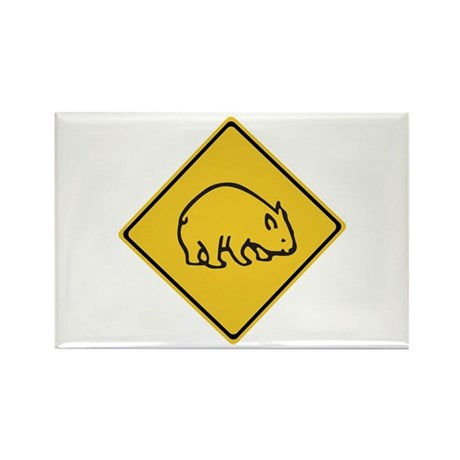 Wombats Crossing, Australia Rectangle Magnet (100