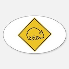 Wombats Crossing, Australia Oval Decal