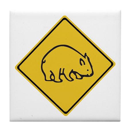 Wombats Crossing, Australia Tile Coaster