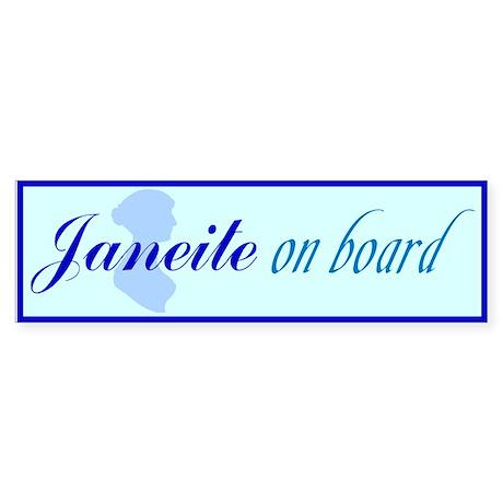 Janeite on board bumper sticker.