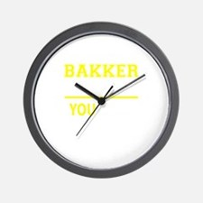 BAKKER thing, you wouldn't understand! Wall Clock